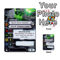 X Wing Maneuver Cards Wave 4 6 By Matt   Multi Purpose Cards (rectangle)   Ejgchyss53zm   Www Artscow Com Front 53