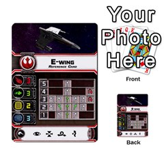 X Wing Maneuver Cards Wave 4 6 By Matt   Multi Purpose Cards (rectangle)   Ejgchyss53zm   Www Artscow Com Front 9