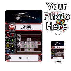 X Wing Maneuver Cards Wave 4 6 By Matt   Multi Purpose Cards (rectangle)   Ejgchyss53zm   Www Artscow Com Front 13