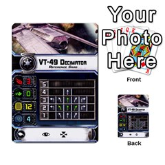 X Wing Maneuver Cards Wave 4 6 By Matt   Multi Purpose Cards (rectangle)   Ejgchyss53zm   Www Artscow Com Front 20