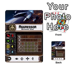 X Wing Maneuver Cards Wave 4 6 By Matt   Multi Purpose Cards (rectangle)   Ejgchyss53zm   Www Artscow Com Front 25