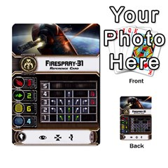 X Wing Maneuver Cards Wave 4 6 By Matt   Multi Purpose Cards (rectangle)   Ejgchyss53zm   Www Artscow Com Front 31
