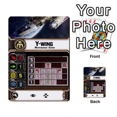 X Wing Maneuver Cards Wave 4 6 By Matt   Multi Purpose Cards (rectangle)   Ejgchyss53zm   Www Artscow Com Front 46
