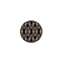 Abstract Geometric Modern Seamless Pattern 1  Mini Button Magnet by dflcprints