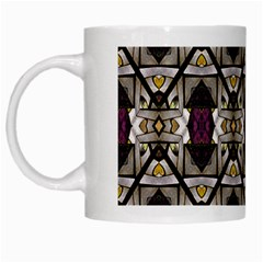 Abstract Geometric Modern Seamless Pattern White Coffee Mug by dflcprints