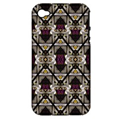 Abstract Geometric Modern Seamless Pattern Apple Iphone 4/4s Hardshell Case (pc+silicone) by dflcprints