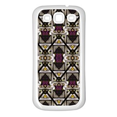 Abstract Geometric Modern Seamless Pattern Samsung Galaxy S3 Back Case (white) by dflcprints
