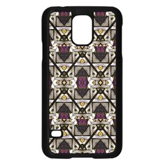 Abstract Geometric Modern Seamless Pattern Samsung Galaxy S5 Case (black)