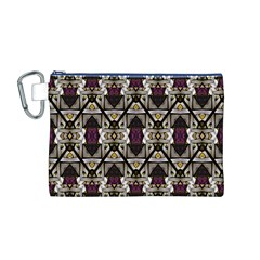 Abstract Geometric Modern Seamless Pattern Canvas Cosmetic Bag (Medium) by dflcprints