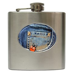 Blue Jean Lady Bug Hip Flask by TheWowFactor