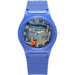Blue Jean Lady Bug Plastic Sport Watch (small) by TheWowFactor