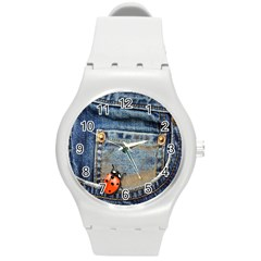 Blue Jean Lady Bug Plastic Sport Watch (medium) by TheWowFactor