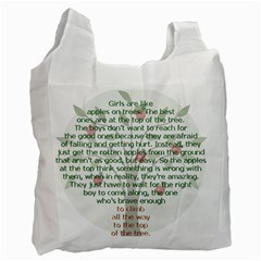 Appletree White Reusable Bag (two Sides) by TheWowFactor