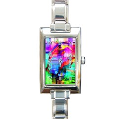 Tim Henderson Dolphins Rectangular Italian Charm Watch by TheWowFactor