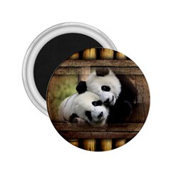 Panda Love 2 25  Button Magnet by TheWowFactor