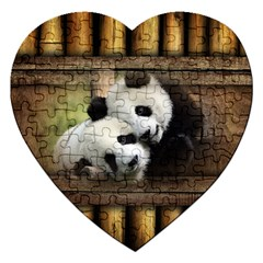 Panda Love Jigsaw Puzzle (heart) by TheWowFactor