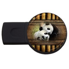 Panda Love 4gb Usb Flash Drive (round) by TheWowFactor