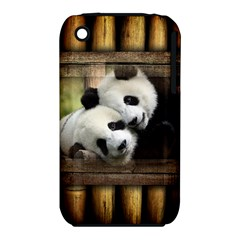 Panda Love Apple Iphone 3g/3gs Hardshell Case (pc+silicone) by TheWowFactor