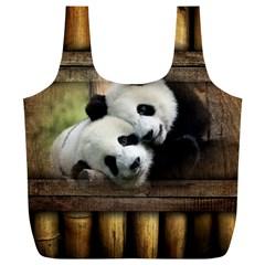 Panda Love Reusable Bag (xl) by TheWowFactor
