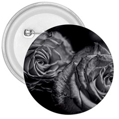 Black And White Tea Roses 3  Button by bloomingvinedesign