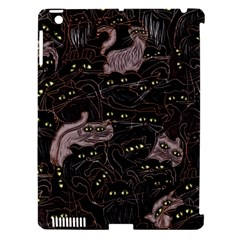 Black Cats Yellow Eyes Apple iPad 3/4 Hardshell Case (Compatible with Smart Cover) by bloomingvinedesign