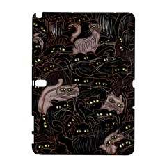 Black Cats Yellow Eyes Samsung Galaxy Note 10 1 (p600) Hardshell Case by bloomingvinedesign
