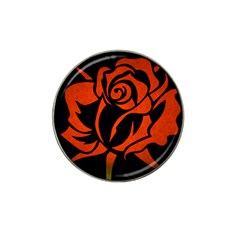 Red Rose Etching On Black Golf Ball Marker 4 Pack (for Hat Clip) by StuffOrSomething