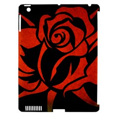 Red Rose Etching On Black Apple Ipad 3/4 Hardshell Case (compatible With Smart Cover) by StuffOrSomething