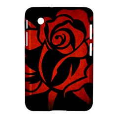 Red Rose Etching On Black Samsung Galaxy Tab 2 (7 ) P3100 Hardshell Case  by StuffOrSomething