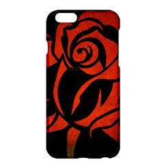 Red Rose Etching On Black Apple Iphone 6 Plus Hardshell Case by StuffOrSomething