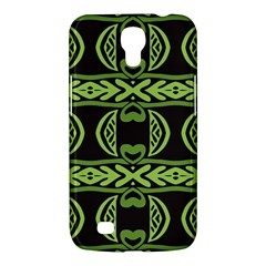 Green Shapes On A Black Background Pattern Samsung Galaxy Mega 6 3  I9200 Hardshell Case by LalyLauraFLM