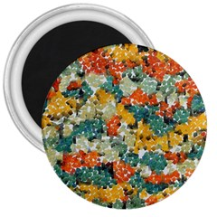 Paint Strokes In Retro Colors 3  Magnet by LalyLauraFLM