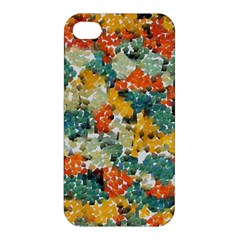 Paint Strokes In Retro Colors Apple Iphone 4/4s Premium Hardshell Case by LalyLauraFLM