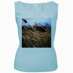 Blowing prairie Grass Women s Tank Top (Baby Blue) by bloomingvinedesign