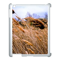 Blowing Prairie Grass Apple Ipad 3/4 Case (white) by bloomingvinedesign