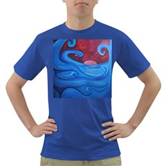 Blown Ocean Waves Men s T Shirt (colored) by bloomingvinedesign