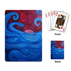 Blown Ocean Waves Playing Cards Single Design by bloomingvinedesign