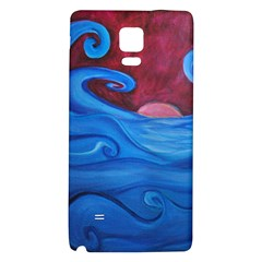 Blown Ocean Waves Samsung Note 4 Hardshell Back Case by bloomingvinedesign