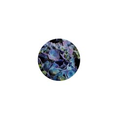Blue And Purple Hydrangea Group 1  Mini Button by bloomingvinedesign