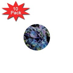 Blue And Purple Hydrangea Group 1  Mini Button (10 Pack) by bloomingvinedesign
