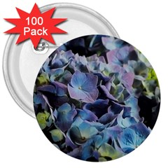 Blue And Purple Hydrangea Group 3  Button (100 Pack) by bloomingvinedesign