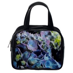 Blue And Purple Hydrangea Group Classic Handbag (one Side) by bloomingvinedesign