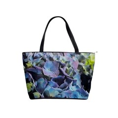 Blue And Purple Hydrangea Group Large Shoulder Bag by bloomingvinedesign