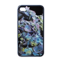 Blue And Purple Hydrangea Group Apple Iphone 4 Case (black) by bloomingvinedesign