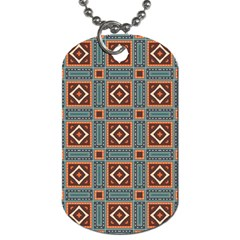 Squares Rectangles And Other Shapes Pattern Dog Tag (one Side) by LalyLauraFLM