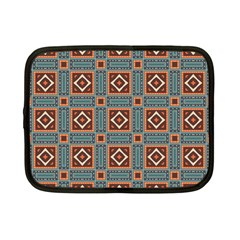 Squares Rectangles And Other Shapes Pattern Netbook Case (small) by LalyLauraFLM