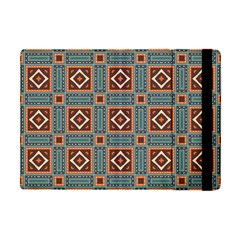 Squares Rectangles And Other Shapes Pattern Apple Ipad Mini Flip Case by LalyLauraFLM