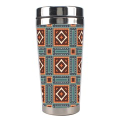 Squares Rectangles And Other Shapes Pattern Stainless Steel Travel Tumbler by LalyLauraFLM