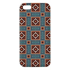 Squares Rectangles And Other Shapes Pattern Iphone 5s Premium Hardshell Case by LalyLauraFLM