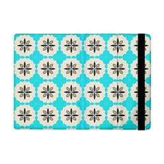 Floral Pattern On A Blue Background Apple Ipad Mini 2 Flip Case by LalyLauraFLM